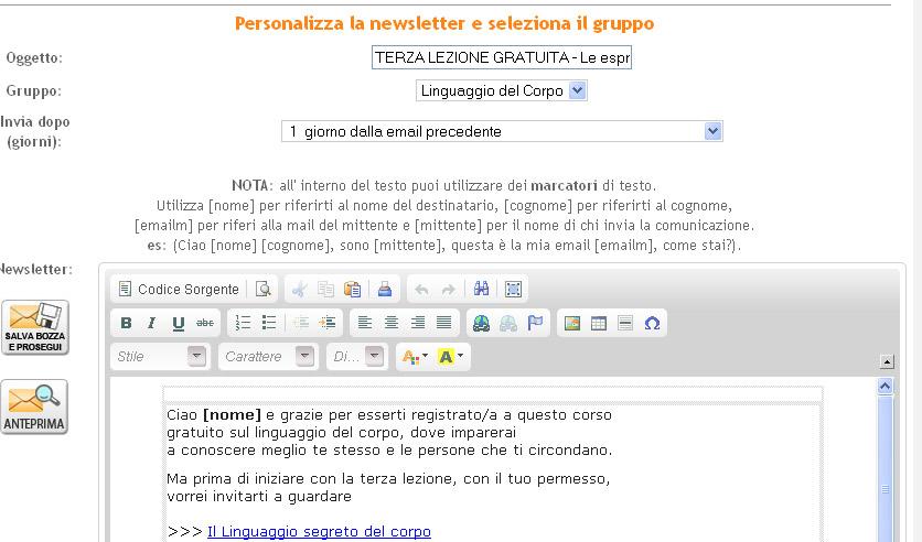 personalizza news