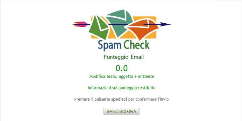 Punteggio Spamcheck Newsletter HTML